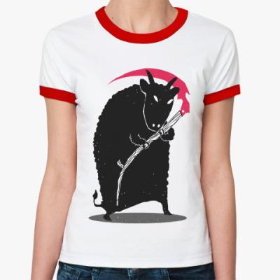 Женская футболка Ringer-T Мрачный убийца