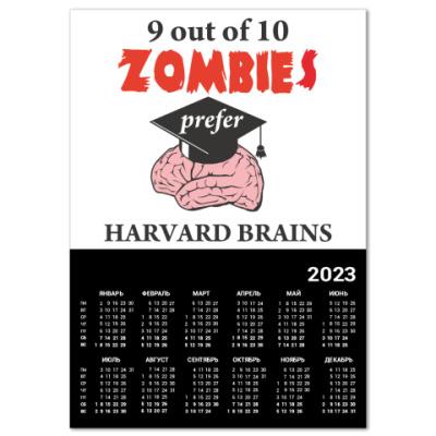 Календарь Harvard brains