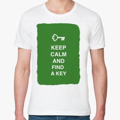 Футболка из органик-хлопка Keep calm and find a key