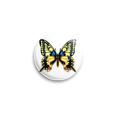 Значок 25мм Бабочка МАХАОН