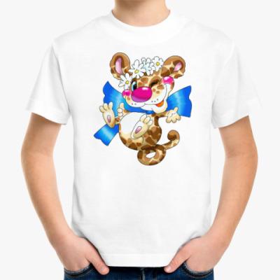 Детская футболка ЛЕОПАРД НА ХВОСТЕ
