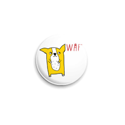 Значок 25мм WAF CORGI