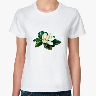 Классическая футболка  Магнолия