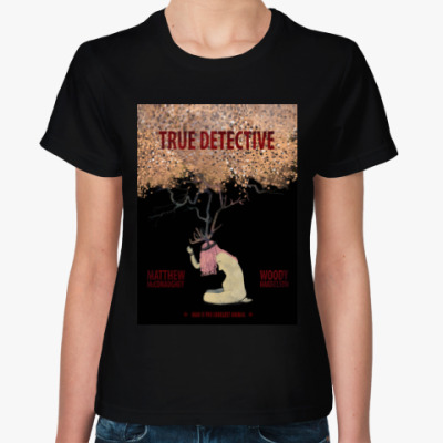 Женская футболка true detective