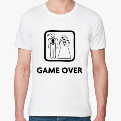 Футболка из органик-хлопка Game Over. HELP!
