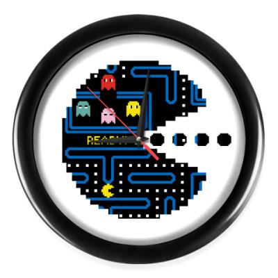 Настенные часы Pac-Man. PacMan. ПакМан. ПакМен. Pixels. Ready!