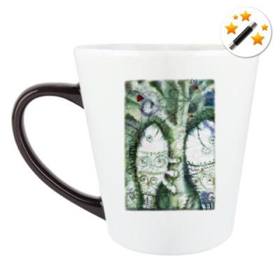 Кружка-хамелеон  Рыбы и дерево