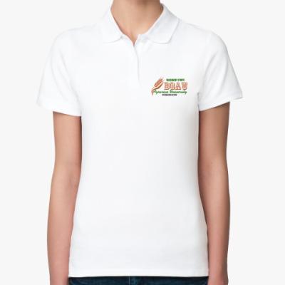 Женская рубашка поло БГАУ