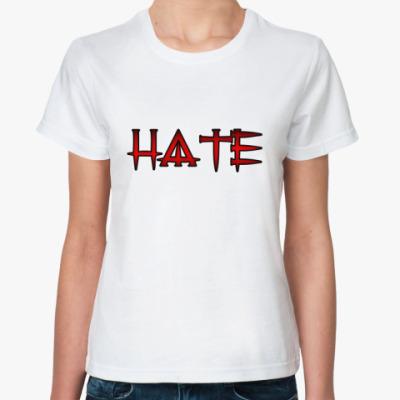 Классическая футболка HATE