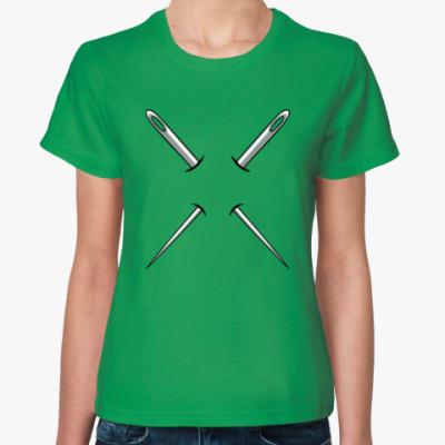 Женская футболка Швейные иглы