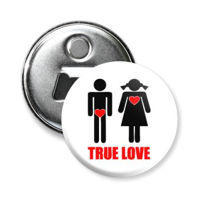 Магнит-открывашка  True Love