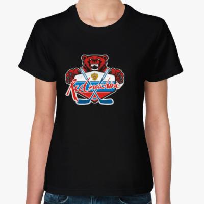 Женская футболка Хоккей Сборная России Hockey