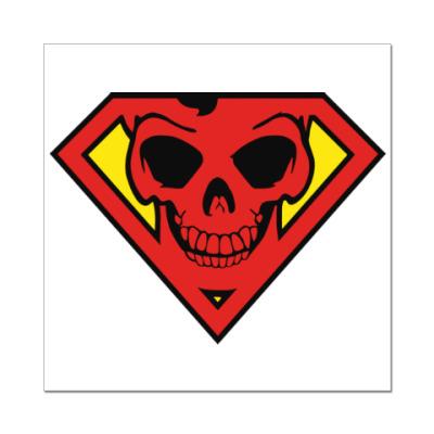 Наклейка (стикер) Skull Superman