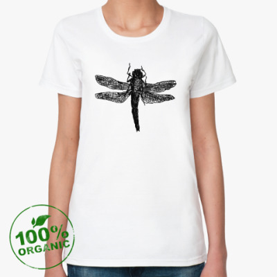 Женская футболка из органик-хлопка Dragonfly
