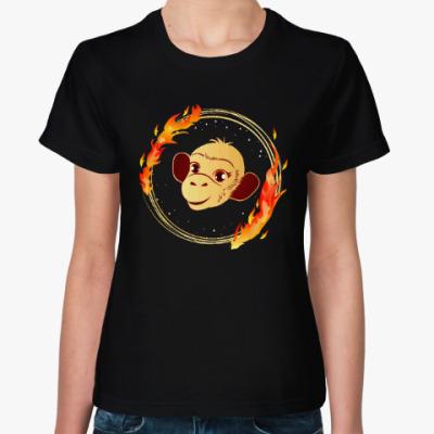 Женская футболка Обезьянка
