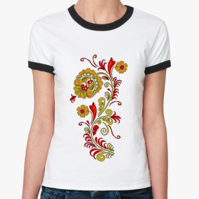 Женская футболка Ringer-T Орнамент