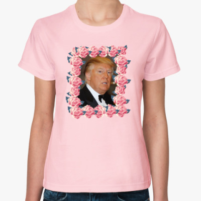 Женская футболка Трамп