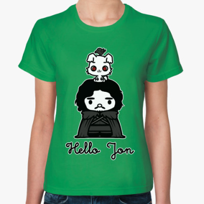 Женская футболка Hello Jon