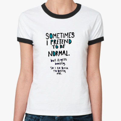 Женская футболка Ringer-T Normal