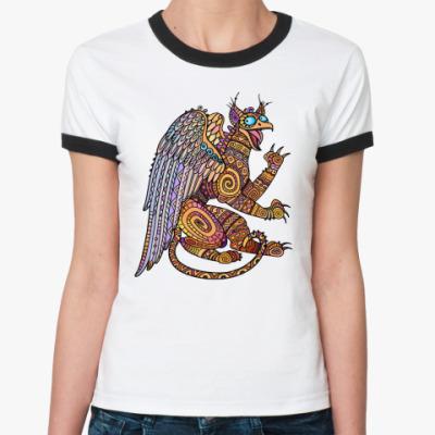 Женская футболка Ringer-T Йошкина грифошка