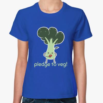 Женская футболка Pledge to Veg