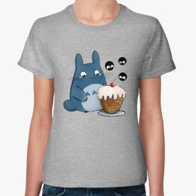 Женская футболка Тоторо и кексик