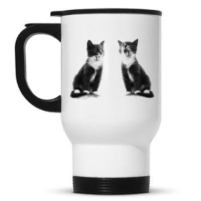 Кружка-термос Две кошки