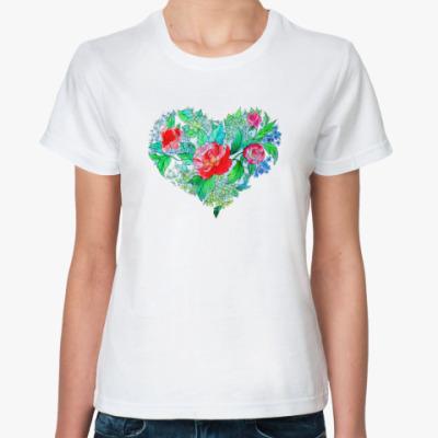 Классическая футболка Весна в сердце