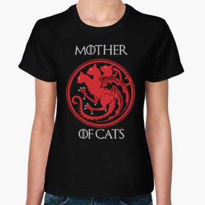 Женская футболка mother of cats