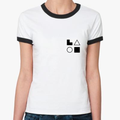 Женская футболка Ringer-T  ЭИЭ (Гамлет)
