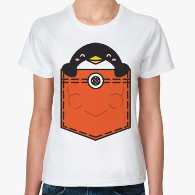 Классическая футболка Пингвин