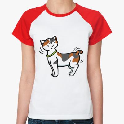 Женская футболка реглан Кот-котофеич