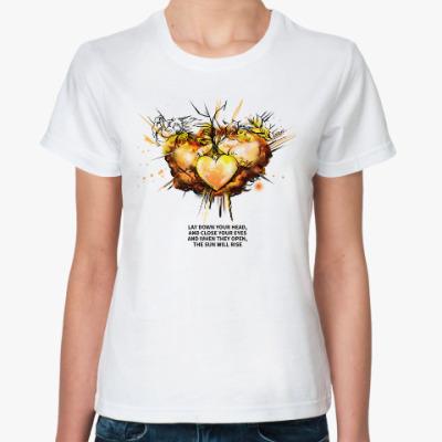 Классическая футболка Katniss & Prim. Hunger Games. Голодные игры