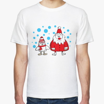 Футболка Дед Мороз и Пингвин
