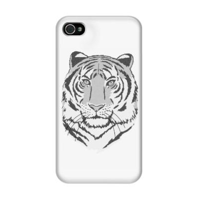 Чехол для iPhone 4/4s Под покровительством тигра