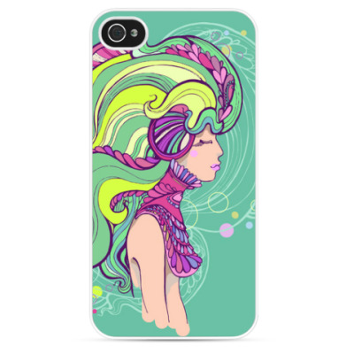 Чехол для iPhone 'Девушка в мечтах'