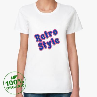 Женская футболка из органик-хлопка Ретро