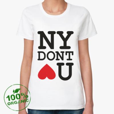 Женская футболка из органик-хлопка NEW YORK