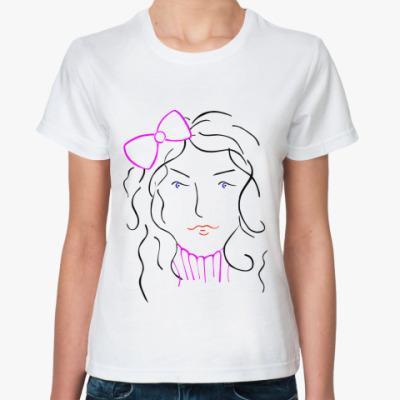 Классическая футболка Женское лицо