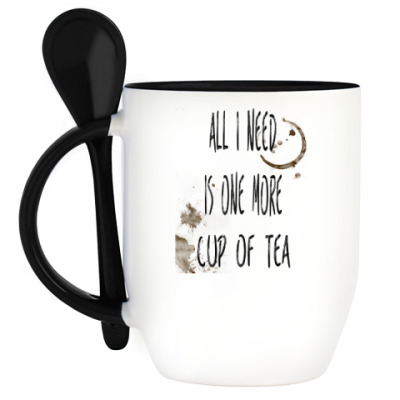 Кружка с ложкой Чашка чая