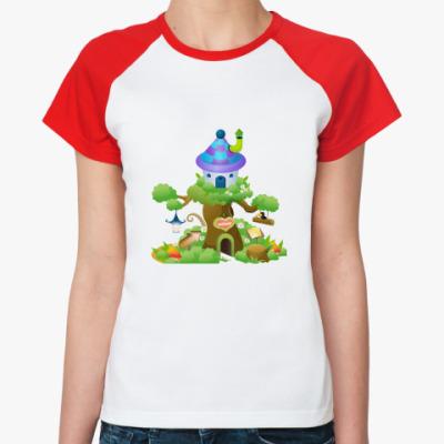 Женская футболка реглан Сказочный дом