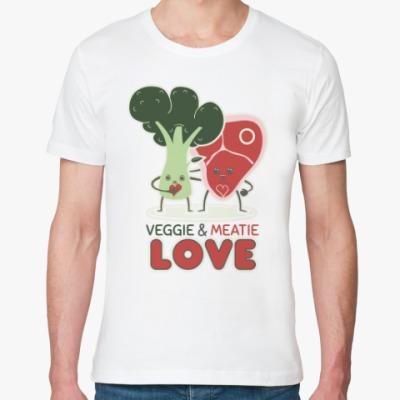 Футболка из органик-хлопка Овощно-мясная любовь