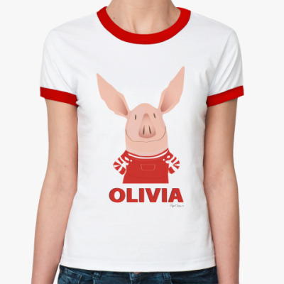 Женская футболка Ringer-T  Olivia