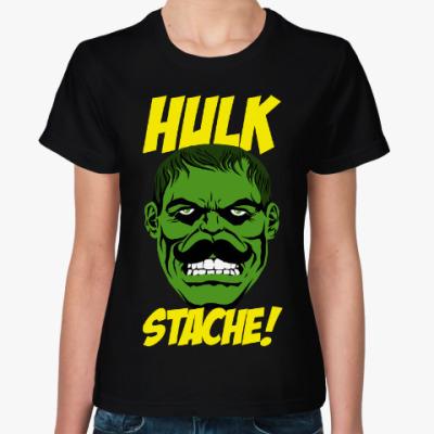 Женская футболка Халк с усами