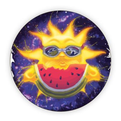 Костер (подставка под кружку) Солнечный арбуз