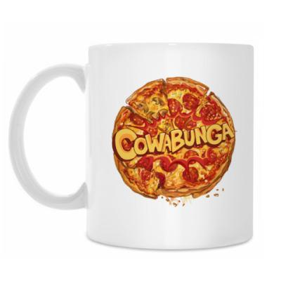 Кружка Pizza Cowabunga! Пицца Микеланджело