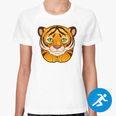 Женская спортивная футболка Тигрёнок