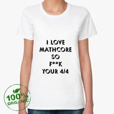 Женская футболка из органик-хлопка Mathcore