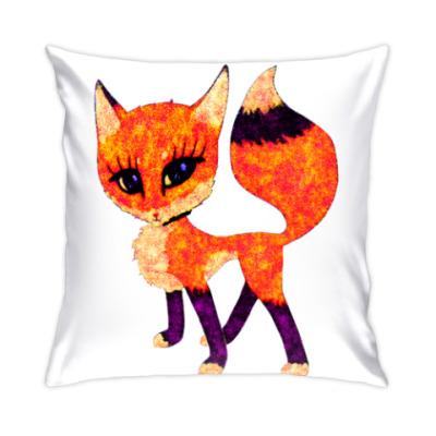 Подушка Лисичка рыжая
