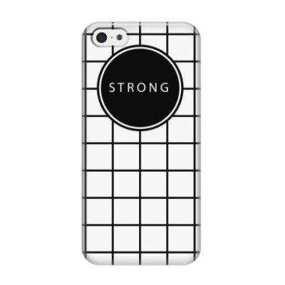 Чехол для iPhone 5/5s Минималистичный принт STRONG
